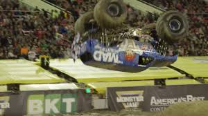 monster truck jam san antonio monster truck front flips for the first time ever at monster jam