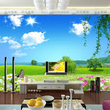 natural scenery wallpaper custom 3d wall mural blue sky photo