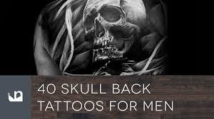 40 skull back tattoos for