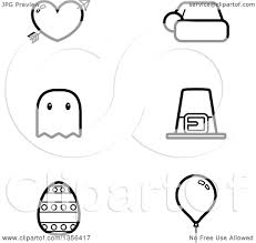 halloween line art clipart of black and white lineart valentine christmas halloween
