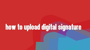 Signature How To Upload Digital Signature In Pf Portal Youtube