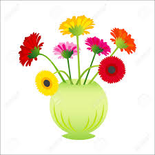 Simple Flower Vase - vector flower gerber in vase royalty free cliparts vectors and