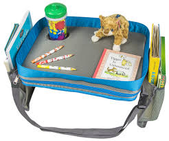 kids travel activity snack tray by on the go families heavy duty side walls