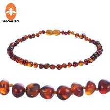 natural amber necklace images Haohupo cognac natural amber necklace for baby adult baroque jpg
