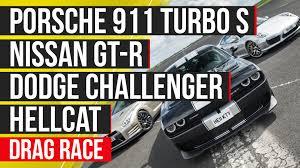 Nissan Gtr Turbo - dodgeboost usa vs germany vs japan hellcat vs porsche 911