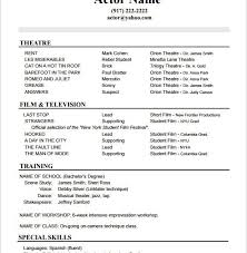 Actors Resume Template Dazzling Actors Resume Template 2 10 Acting Templates Free Sles