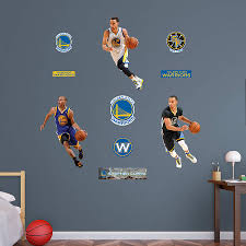 stephen curry hero pack wall decal set shop fathead for golden stephen curry hero pack fathead wall decal