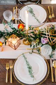 rustic dinner table settings rustic table setting decor with copper and greenery vineyard rustic