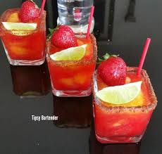 mango margarita sorbet strawberry mango margarita tipsybartender com