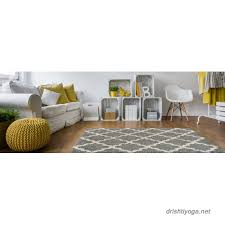 Modern Shaggy Rugs Soft Shag Area Rug 20 X 31 Doormat Accent Moroccan Trellis Grey