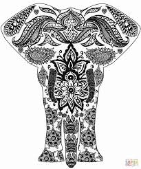 free printable zentangle coloring pages elephant zentangle coloring page free printable pages endear