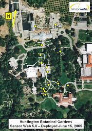 Botanical Gardens Huntington Sensor Webs Deployments Huntington Botanical Gardens