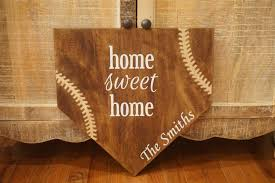 personalized home decor full size home plate home sweet home baseball plate