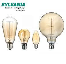 sylvania decorative light bulbs sylvania 40w 60w vintage decorative squirrel cage filament ls