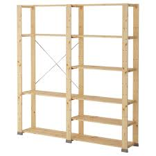 hejne 2 section shelving unit ikea