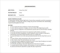 head cook job description line cook job description template