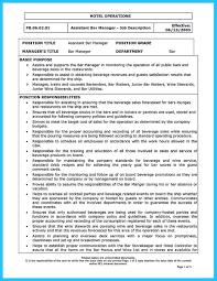 sle resume for bartending position gallery of bar resume exles