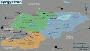 Map Of The Northwest Map Of Kyrgyzstan Regions Worldofmaps Net Online Maps And