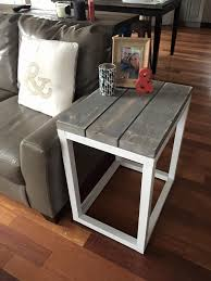 Side Table In Living Room Rustic Home Decor White Diy Shanty 2 Chic Rustic