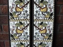 victorian style bird fireplace tile set 2 x 5 tile panels ref 2