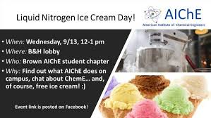 liquid nitrogen ice cream making event of engineering