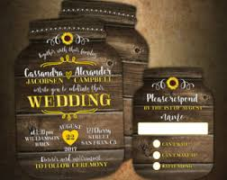 Sunflower Wedding Invitations Mason Jar Wedding Invitations U2013 Gangcraft Net