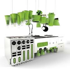 eco friendly kitchen love the hanging herb gardens slight