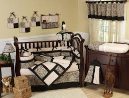 baby themes white baby room wall themes with brown wooden cradles and bedding