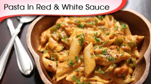pasta in red and white sauce easy to make italian pasta recipe