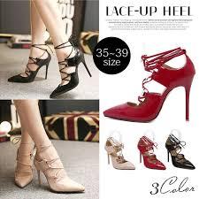 ribbon heels terracotta rakuten global market lace up enamel high heels