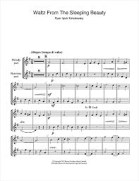 waltz sleeping beauty sheet music pyotr ilyich