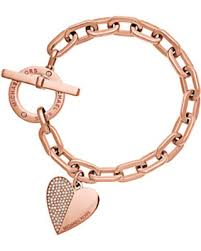 bracelet with heart charms images Hello holidays 40 off michael kors heart charm rose gold tone