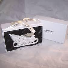 pandora limited edition white ceramic santa sled