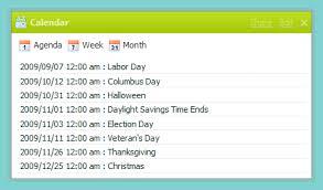 get organized the easy way just add a calendar widget netvibes