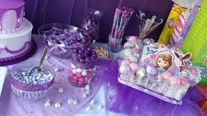 sofia the first table sofia the first candy table sofia the first birthday party