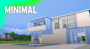 the sims 4 houses minimal modern house youtube