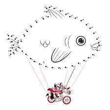 spacesick can you connect the dots and help mr raccoon fly his