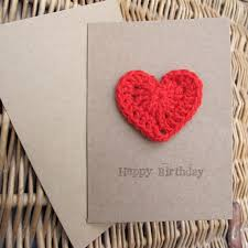 a crochet gift card a happy birthday card that is also a