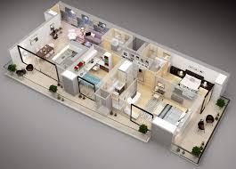 Bedroom Floor Design 50 Three 3 Bedroom Apartment House Plans Architecture Design