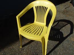 Yellow Patio Chairs Reving Plastic Patio Chairs One House One