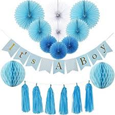 baby shower paper baby shower decorations for boy kit it s a boy