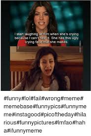 Smiling Crying Face Meme - l start laughing at kim when she s crying because can t help it