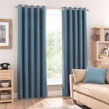 Teal Curtains Teal Blackout Eyelet Curtains Dunelm