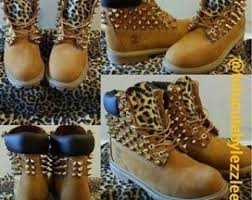 womens timberland boots size 12 spiked timberland etsy