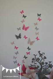 deco chambre bebe fille papillon stickers décoration chambre enfant fille bébé papillons fuchsia