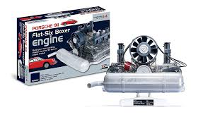 how a porsche 911 flat six boxer engine works toy scale model by