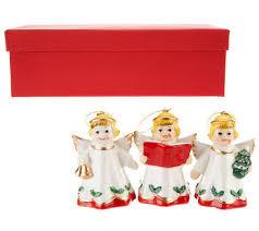 Mr Christmas Ornament - set of 3 vintage porcelain ornaments by mr christmas page 1