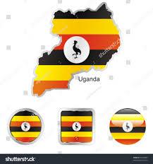 Images Of Uganda Flag Fully Editable Flag Uganda Map Internet Stock Vector 44400883