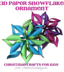 3d paper snowflakes crafts for feels like home