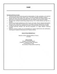 resume sample for accounting management executive sales amp operations resume example salary